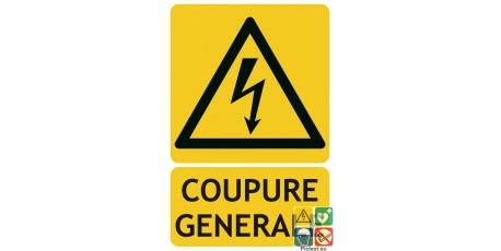 Panneau coupure générale électrique ISO7010