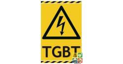 Panneau TGBT danger électrique
