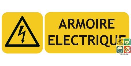 Panneau armoire électrique avec picto ISO7010