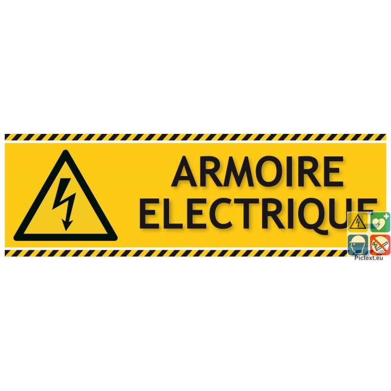 Panneau Danger Armoire Electrique Picto Texte Au Format Paysage