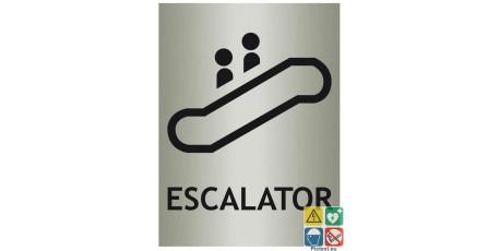 Panneau Escalator avec picto ISO70001 métal