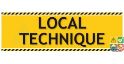 Local technique panneau de localisation gamme laser