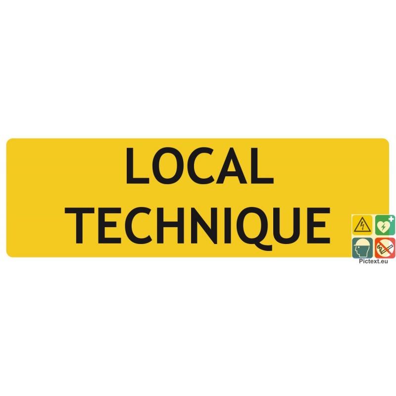 Panneau de signalisation pour indiquer les locaux techniques for Local technique prefabrique