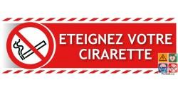 Panneau éteignez votre cigarette gamme xénon