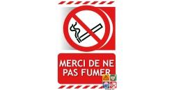Panneau merci de ne pas fumer gamme xénon