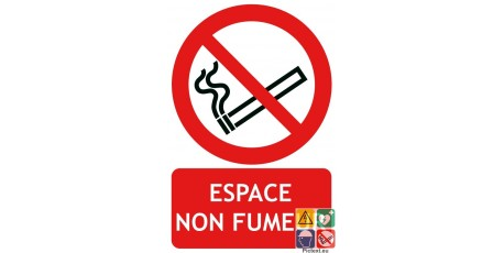 Panneau espace non fumeur iso7010