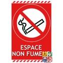 Panneau espace non fumeur interdiction de fumer