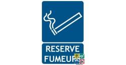 Panneau réservé fumeurs picto ISO7010