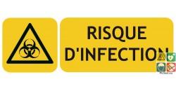 Panneau risque d'infection ISO7010
