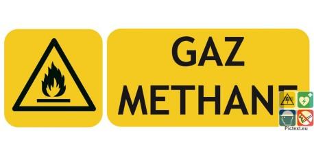 Panneau danger gaz méthane picto iso7010