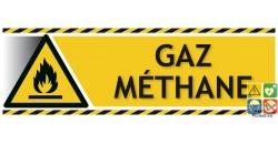 Panneau danger gaz méthane