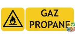 Panneau danger gaz propane