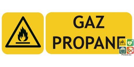 Panneau danger gaz propane picto iso7010
