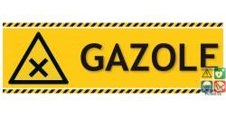 Panneau danger gazole picto iso7010 gamme laser
