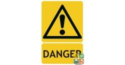 Panneau danger signal général picto iso7010