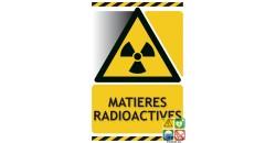 Panneau danger matières radioactives gamme xénon
