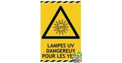 Panneau danger lampes UV gamme laser