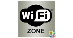 Pictogramme zone wifi ISO70001 métal