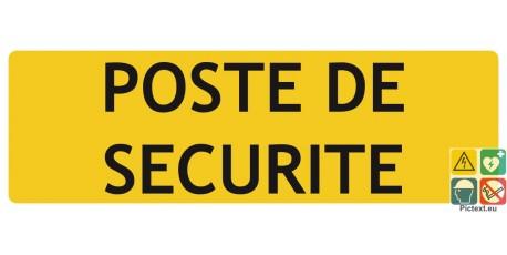 Panneau poste de sécurité