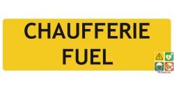 Chaufferie fuel panneau de localisation