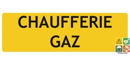 Chaufferie gaz panneau de localisation