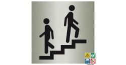 Pictogramme escalier ISO70001 métal