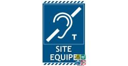 Panneau site équipé pour malentendants symbole T gamme laser