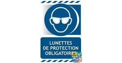 Panneau port des lunettes de protection obligatoire gamme xénon