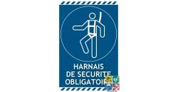Panneau port du harnais de sécurité obligatoire gamme laser