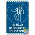 Panneau port du harnais de sécurité obligatoire