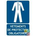 Panneau vêtements de protection obligatoires