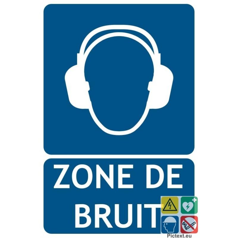 panneau port des protections auditives obligatoire zone de