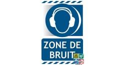 Panneau port des protections auditives obligatoire zone de bruit