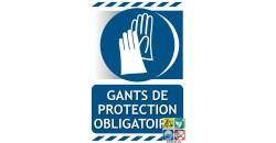 Panneau port des gants de protection obligatoire gamme xénon