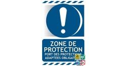 Panneau port de protections adaptées obligatoire zone de protection