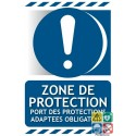 Panneau port de protections adaptées obligatoire