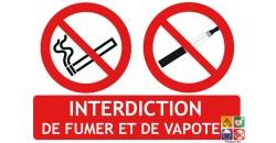 Panneau 2 en 1 Interdiction de fumer et de vapoter