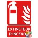 Panneau extincteur d'incendie