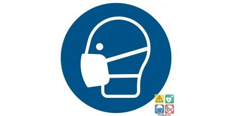 picto masque de protection obligatoire iso7010 a partir. Black Bedroom Furniture Sets. Home Design Ideas