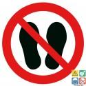Picto interdit de marcher ou de stationner à cet endroit