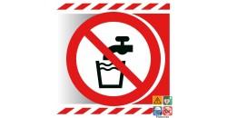 Picto interdiction de boire eau non potable