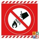 Picto interdiction d'éteindre avec de l'eau