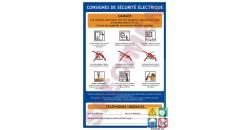 Consigne de sécurité electrique