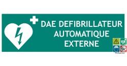 Panneau DAE défibrillateur automatique externe