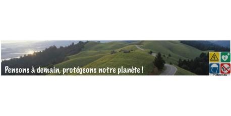 Panneau protégeons notre planète