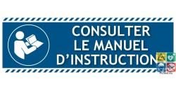 Panneau d'obligation consulter le manuel d'instructions