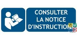 Panneau obligation de consulter la notice dinstructions