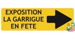 Panneaux directionnels à personnaliser fond jaune flèche à droite