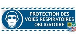 Panneau picto-texto protection des voies respiratoires obligatoire gamme xénon