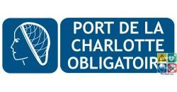 Panneau picto et texte port de la charlotte obligatoire